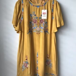 ENTRO Day yellow floral dress